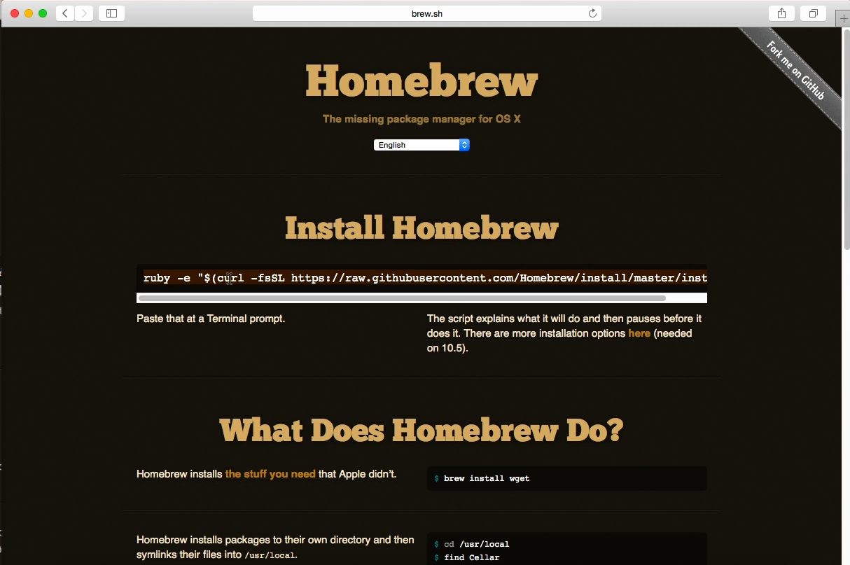 Install HTOP on Mac OS X with Homebrew