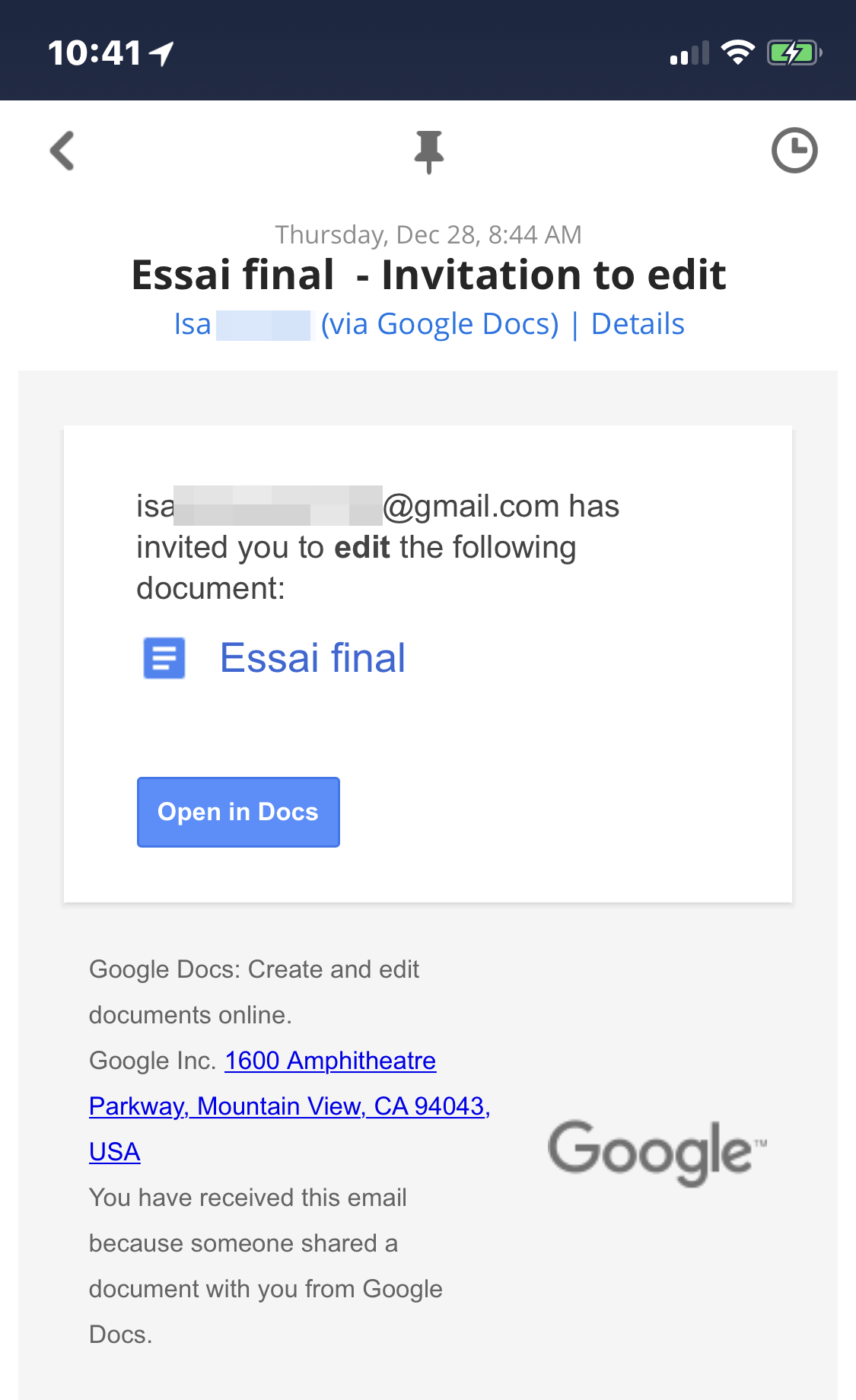 invitation to edit